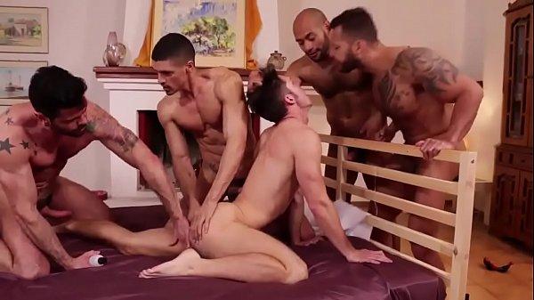 Hot gay guys orgy