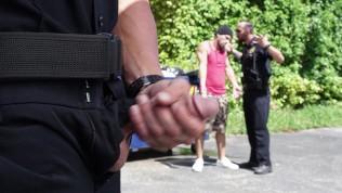 GAYPATROL – Police Corner A Suspect Who Finds The Men In Uniform Attractive